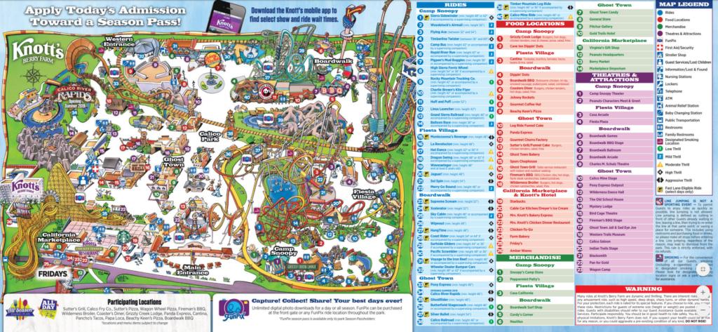Knotts Berry Farm Map